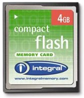Integral 4GB CompactFlash Card 4GB CompactFlash flashgeheugen