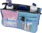 Bag in Bag Tas Organizer 11 vakken en ritssluiting - Licht blauw