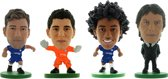 Soccerstarz voetbalpoppetjes CHELSEA 4-pack ⚽ Marcos Alonso ⚽ Thibaut Courtois ⚽ Willian ⚽ Antonio Conte