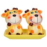 Keramieken Peper en Zout Stel Giraffen – 6x6x5cm   Peper en Zoutvaatje   Keukenaccessoires