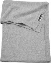 Meyco Knit basic ledikantdeken - 100x150 cm - Grijs