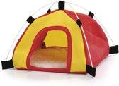 Beeztees Tent - Knaagdier - Rood/Geel - 18x18x17 cm
