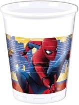Marvel Feestbekers Spider-man Rood/blauw 200 Ml 8 Stuks