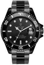 Tevise - Automatic Watch - herenhorloge - black/black - 42 mm