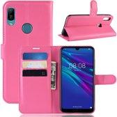 Huawei Y6 (2019) Hoesje - Book Case - Roze