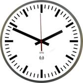 GTG Streep Radio Control - Klok - Rond - RVS - Ø30 cm - Wit