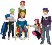 Pieten baret en cape voor kinderen  blauw