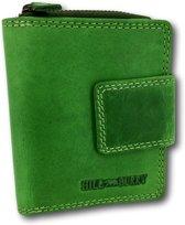 1e277a40296 HillBurry - VL777012 - 5026 - groen - portemonnee - leder