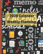 2020 Calendar: Weekly planning