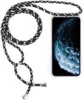 Mobigear Nekkoord Transparant TPU Groen / Beige / Zwart Hoesje Apple iPhone 11 Pro Max