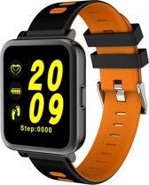 D10 1 54 inch scherm Display Bluetooth Smart Watch  steun stappenteller / Heart Rate Monitor / slapen Monitor / sedentaire herinnering  compatibel met Android en iOS Phones(Orange)