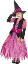 Halloween Roze heksen kostuum voor meisjes 10-12 jaar