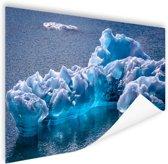 Gletsjerijs foto Poster 120x80 cm - Foto print op Poster (wanddecoratie woonkamer / slaapkamer)