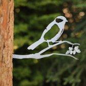 Koolmees RVS - By Aimy Birds - 29 x 18,3 cm BxH