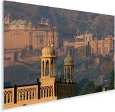 Het vroege ochtendlicht over het Fort Amber in India Plexiglas 90x60 cm - Foto print op Glas (Plexiglas wanddecoratie)