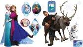 Disney Frozen Family - Muurstickers 2 x vel A3 - Multi