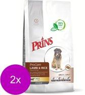 Prins procare croque hypo allergic lam/rijst hondenvoer 2x 10 kg OP = OP