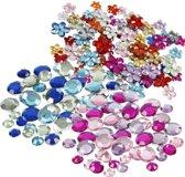 Plak diamantjes/steentjes mix set 972 stuks