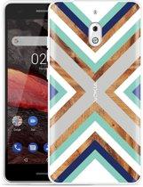 Nokia 2.1 Hoesje Wood Art