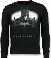 Local Fanatic Batman Trui - Batman Sweater Heren - Mannen Truien - Zwart - Maten: M