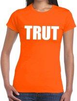 Trut tekst t-shirt oranje dames L