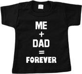 Shirt me and dad forever | Vaderdag cadeau tip | Verrassing voor papa | Baby shirt | Kinder shirt | Korte mouwen
