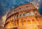Fotobehang Colosseum City Sunset | L - 152.5cm x 104cm | 130g/m2 Vlies