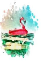 Notebook Flamingo Abstract Painting