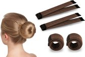 Magic Bun Maker | Set - 2 stuks | Bruin | Maak De Perfecte Knot | Fashion Favorite