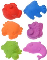 Strand/zandbak speelgoed zandvormpjes zeedieren - Zandbakspeeltjes - Strandspeelgoed