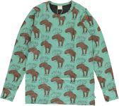 Maxomorra T-shirt  MIGHTY MOOSE  met Lange Mouwen 134/140