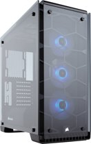 Corsair Crystal 570X Midi-Toren Zwart, Transparant computerbehuizing