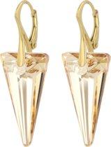 ARLIZI 0907 Oorbellen Swarovski Kristal Spike - Dames - 925 Zilver Verguld - 4 cm