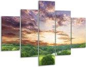 Glasschilderij Natuur | Groen, Grijs, Blauw | 100x70cm 5Luik | Foto print op Glas |  F002650