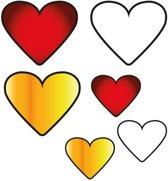 Applicaties 6 stuks op kaart Oeteldonk hartjes
