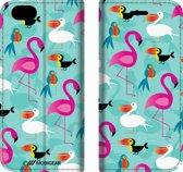 Mobigear Design Mobigear Tropical Design Wallet Bookcase Hoesje 7 iPhone 6 / 6s