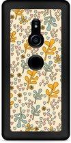Xperia XZ2 Hardcase Hoesje Doodle Flower Pattern
