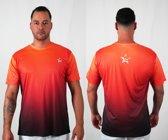 Bones Sportswear Heren T-shirt Odyssey Orange maat XL