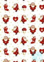 Kerstpapier Little Nick K691518 - Toonbankrol breedte 50 (breedte rol) cm - k691518-50cm