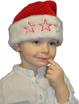 Pluche kerstmuts voor kinderen
