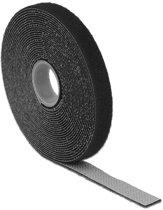 DeLOCK Klittenband rol 13mm / zwart (5 meter)