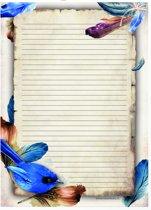 Schrijfblok Veertjes - 50 vel A4 formaat gelinieerd papier