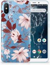 Xiaomi Mi A2 Uniek TPU Hoesje Watercolor Flowers
