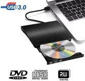 Externe DVD/CD speler voor laptop of computer met USB aansluiting - zwart