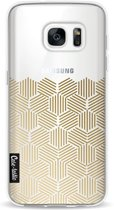 Casetastic Softcover Samsung Galaxy S7 - Golden Hexagons