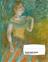 Edgar Degas the Singer Blank Sheet Music Notebook