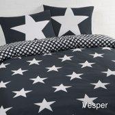 Day Dream Vesper - dekbedovertrek - eenpersoons - 140 x 200/220 - Zwart