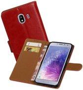 Zakelijke Bookstyle Hoesje Samsung Galaxy J4 Rood