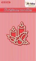 Nellies Choice Hobby Solutions Die Cut Kerstkaarsen