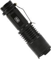 XIB LED Professionele Zaklamp Mini met bundelfocus Aluminium - 700 Lumen - Zwart
